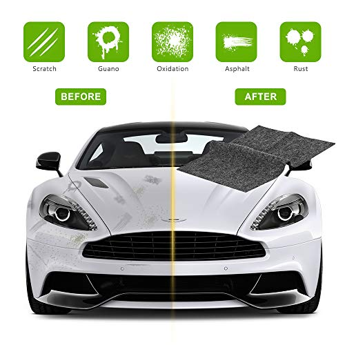 Sydixon Car Scratch Remover, Auto Paint Scratch Remover, Nano-Tech Car Scratch Repair Fix Car Scuffs Polishing Towel for Multicolor Car Surface (1 Pack) (Remover Parallel)
