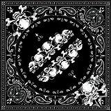 Negro Paisley pañuelo,  Skull Row