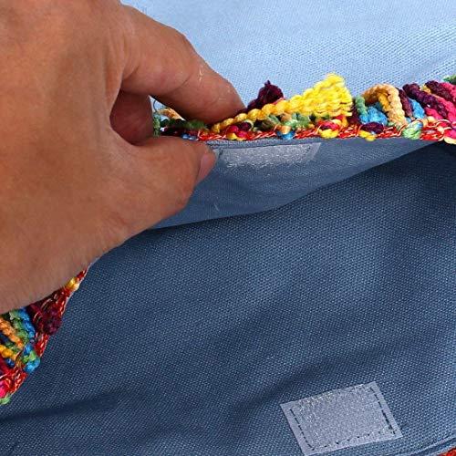 Blu Dimensione Bag Colore Decor Holder sourcingmap Nappa Cosmetici Viaggi reale Tote Azzurro Scuola Shoulder Laptop Libri Moontang Messenger Canvas Studenti Single T1ZHxwqH