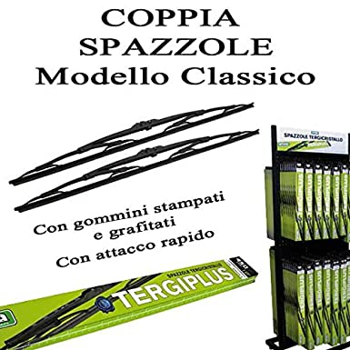Arearicambi - Par Escobillas Limpiaparabrisas maletín clásico de hierro lado Guía 550 mm lado del pasajero 400 mm: Amazon.es: Juguetes y juegos