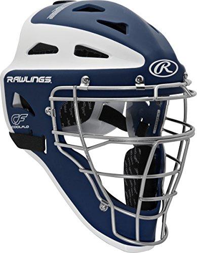 (Rawlings Sporting Goods Youth Velo Series Catchers Helmet, Navy/White, 6 1/2-7
