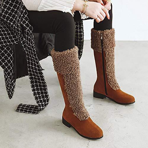 Logobeing Botins Botas de Mujer Zapatos de Invierno Botas de Nieve Cálidas y Peludas Tacones Botines Botas Medias Zapatos Calientes Tacones Mujer Plataforma ...