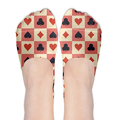 (Casual Chequered Poker No-Show Low Cut Ankle Socks For Womens)