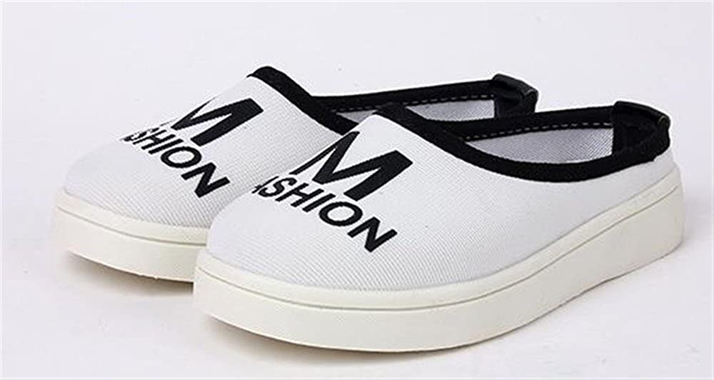 Kids Breathble Casual Flat Shoes Boys Girls Fashion Canvas Shoes White-30//12 M US Little Kid