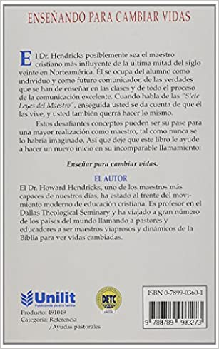 Enseñando para cambiar vidas // Teaching to Change Lives (Spanish Edition): Hendricks, Howard: 9780789903273: Amazon.com: Books