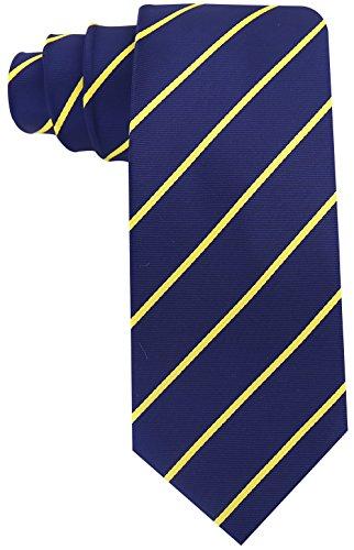Pencil Stripe Ties for Men - Woven Necktie - Navy Blue ()