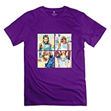 WXTEE Men's Taylor Swift Puzzle Picture Shirt Size L Purple
