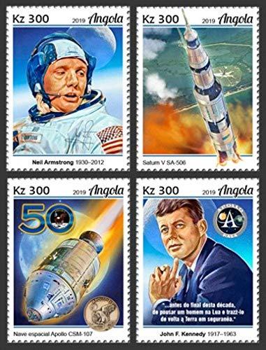 Angola - 2019 Apollo 11 Moon Landing - Set of 4 Stamps - ANG190107a