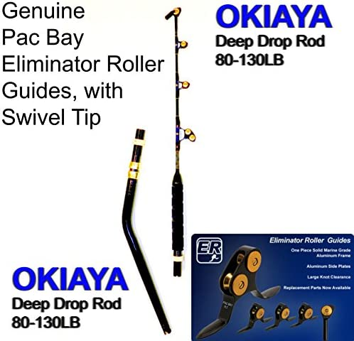 OKIAYA Venom Pro The Blade Deep Drop Bent Butt Pac Bay Roller Rod 80-160LB