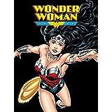 DC Comics Justice League Fleece Throw Blanket, Wonder Woman, Black