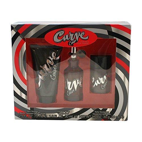 Liz Claiborne Curve Crush Men Giftset (Cologne Spray, Skin Soother, Daily Deodorant Stick) by Liz Claiborne ()