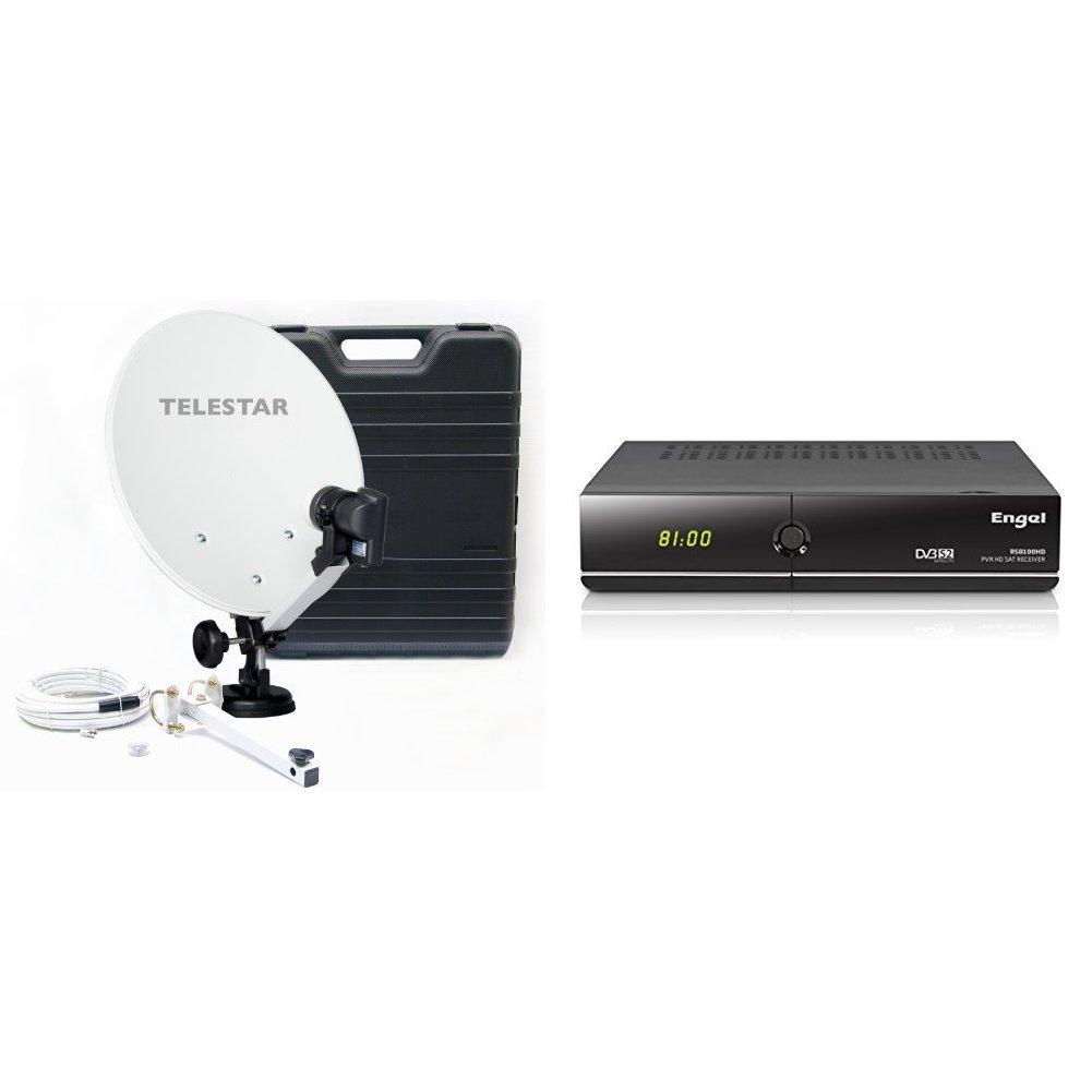 "Telestar Camping 35 - Parabólica (diámetro 13.7"", LNB, 0.1 dB), color blanco Telestar-Digital GmbH 5103309"