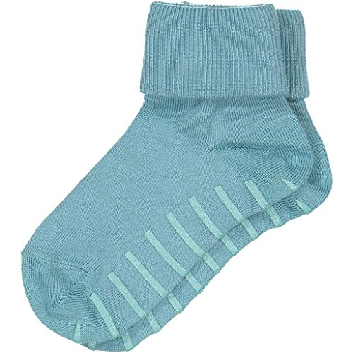 POLARN O. PYRET WOOL TURN UP ANTI SLIP SOCKS (2-6YRS) - Bristol Blue/4-6 years