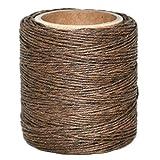 "Maine Thread - .030"" Goldbrown Waxed Polycord. 210"