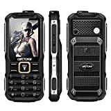 Cectdigi T9900 Rugged 2G GSM Mobile Phone,Shockproof Military-Designed phone with Power Bank Charging Function,15800mAh,2.8inch Display,Dual SIM Cards,Flashlight Equipped,Voice Broadcast (Black)