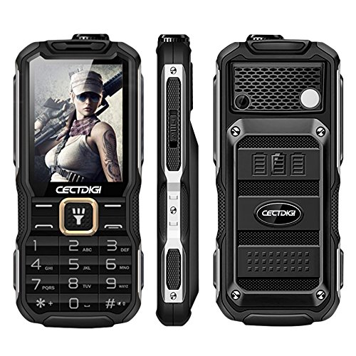 Cectdigi T9900 Rugged 2G GSM Mobile Phone,Shockproof Military-Designed phone with Power Bank Charging Function,15800mAh,2.8inch Display,Dual SIM Cards,Flashlight Equipped,Voice Broadcast - Phone Gsm 2g