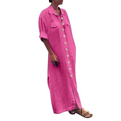 Vestidos Casual Camisas SUNNSEAN Mujeres Trajes de Vestir Moda de ...