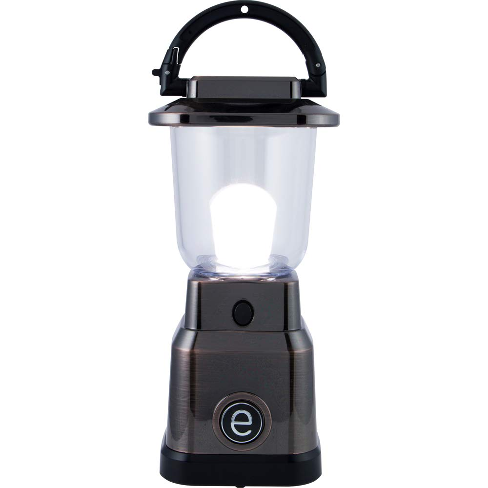 Enbrighten LED Mini Lantern, Battery Operated, Bright White Light, Bronze Finish, 200 Lumens, 40hr Runtime, 3 Light Levels, Ideal for Outdoors, Camping, Hurricane, Storm, Tornado & Emergency, 36578