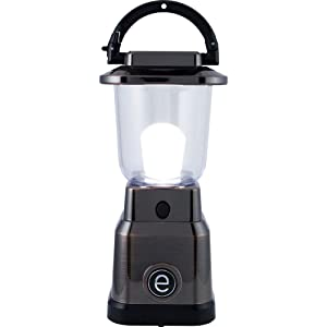 Enbrighten LED Mini Lantern, Battery Operated, Bright White Light, Bronze Finish, 200 Lumens, 40hr Runtime, 3 Light Levels, Ideal for Outdoors, Camping, Hurricane, Storm, Tornado & Emergency, 36578