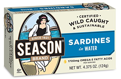 (Season Sardines in Water, 4.375 Ounce (Pack of 12))