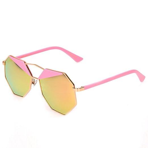 WKAIJC polígonos Dos Colores Gafas de Sol Fashion ...