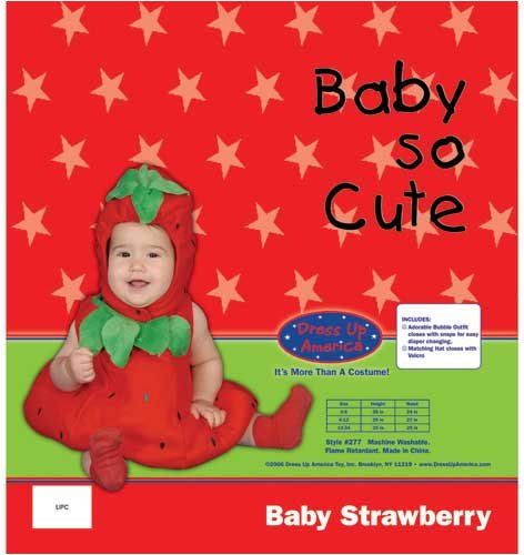 Dress Up America Baby Strawberry, Red, 0-6 Months by Dress Up America