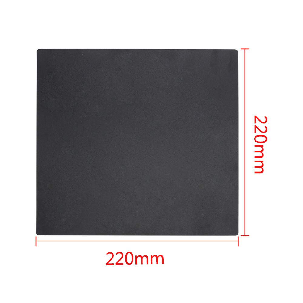 3D Printer Build Surface 220mm for Anet A8 for WanHao i3 Magnetic Anti-warping Detachable Square Black Eewolf (220x220)
