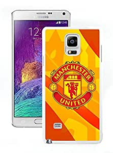 Newest Samsung Galaxy Note 4 Case ,Manchester United 3 White Samsung Galaxy Note 4 Screen Case Unique And Durable Custom Designed Cover Case