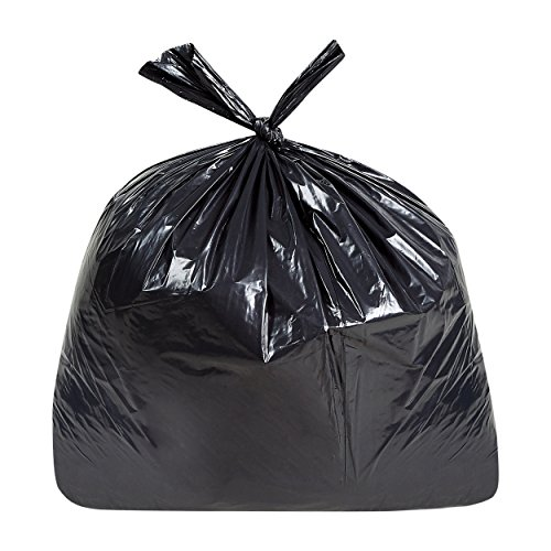 Tasker 55 Gallon Trash Bags, Heavy Duty Contractor Trash bags, 50/Case, Black