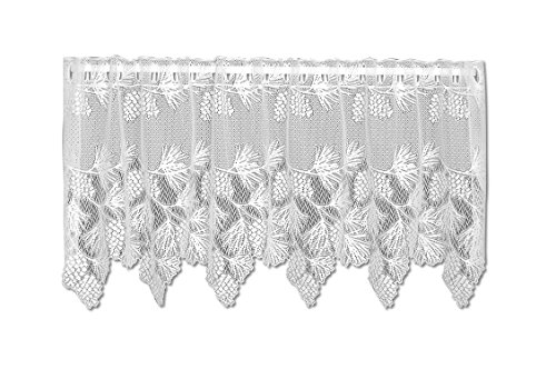 Heritage Lace Woodland 60-Inch Wide by 24-Inch Drop Tier, White For Sale