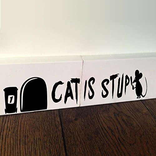 Best Choise Product cat is Stupid Funny 3D Mouse Holes Wall Sticker Wall Decor Children Room Decor Vinyl Sticker