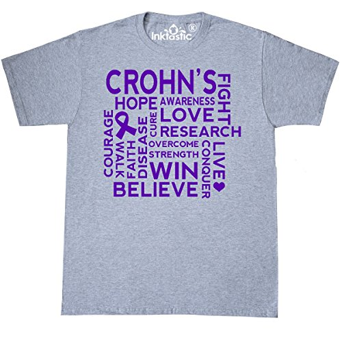 Inktastic Crohns Disease Awareness Support T Shirt Medium Athletic Heather