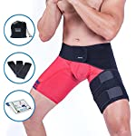 Groin Support and Hip Flexor Wrap | Sciatica Brace - Thigh Compression Belt for Men Women| Adjustable Hamstring Strap Sleeve for Sciatic Nerve Pain Relief Treatment| Muscle Injury Recovery by Zenkeyz