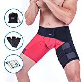 Groin Wrap and Hip Flexor Support Brace - Thigh Compression Belt for Men Women  Adjustable Hamstring Strap Sleeve for Strain Nerve Sciatic Pain Relief Treatment  Muscle Pull Injury Recovery by Zenkeyz