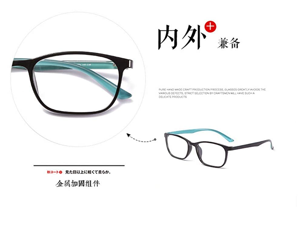 Anti-Blu-Ray Glasses Personality Retro Trend Flat Mirror No Degree Blue
