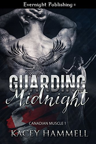 He's  damaged with a dark history, brooding and protective. She's running from a dark past but trying to make a bright future. When she is kidnapped he has a choice to make, one that could lead them both to love. Guarding Midnight (Canadian Muscle Book 1) by Kacey Hammell.
