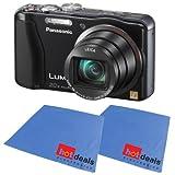 Panasonic Lumix ZS20 14.1 MP High Sensitivity MOS Digital Camera with 20x Optical Zoom (Black) ZS 20- FREE 2 PACK FIBER CLOTH, Best Gadgets
