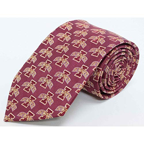 NCAA Men's Iowa State Cyclones State Repeating Necktie, Cardinal/Gold ()