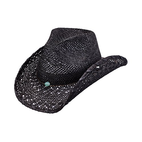 new-peter-grimm-you-too-black-stitch-brim-bead-band-breezer-drifter-cowboy-hat