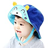 IMLECK Spring New Unisex Baby Bear Solid Flap Sun Protection Hat UPF 50+ - 2019 Best Gift in USA Blue