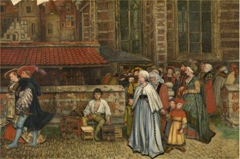 Oil Painting 'Henri Leys - After Mass, 19th Century' Printing On Perfect Effect Canvas , 30x45 Inch / 76x115 Cm ,the Best Garage Gallery Art And Home Decoration And Gifts Is This High Definition Art Decorative Canvas Prints