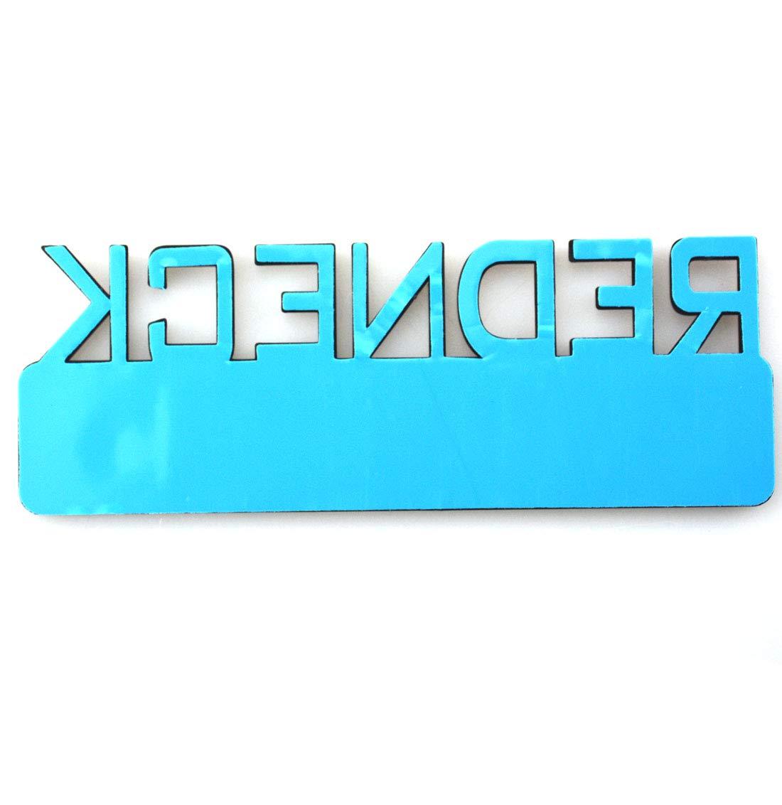 Matte Black 2pcs REDNECK EDITION CAR EMBLEM Chrome Badge 3D Sticker Decal Compatible with F-150 F250 F350 Silverado RAM 1500