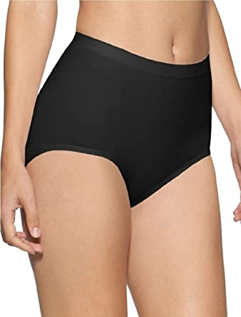 Plus Size Ladies White Black Skin Control brief hold in underwear shapewear 8-30