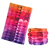 Multi-use Headband Bandana, MoKo Lightweight Sports Headwear, Seamless Breathable Moisture-wicking Headband Versatile Head Wrap, Can Use As Balaclava, Helmet Liner, Neck Gaiter & More, Diamond Rainbow