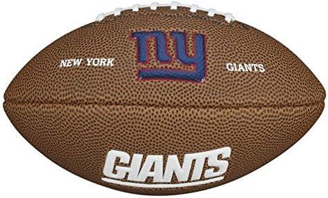 Wilson NFL Team Logo New York Giants Mini balón de fútbol ...