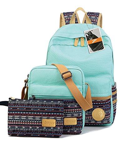 leaper-casual-style-lightweight-canvas-laptop-bag-cute-school-backpack-shoulder-bag-pencil-case-3pcs