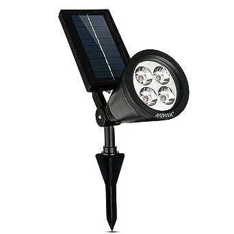 Led solaire, AGPtek Lumière LED solaire jardin extérieur ...