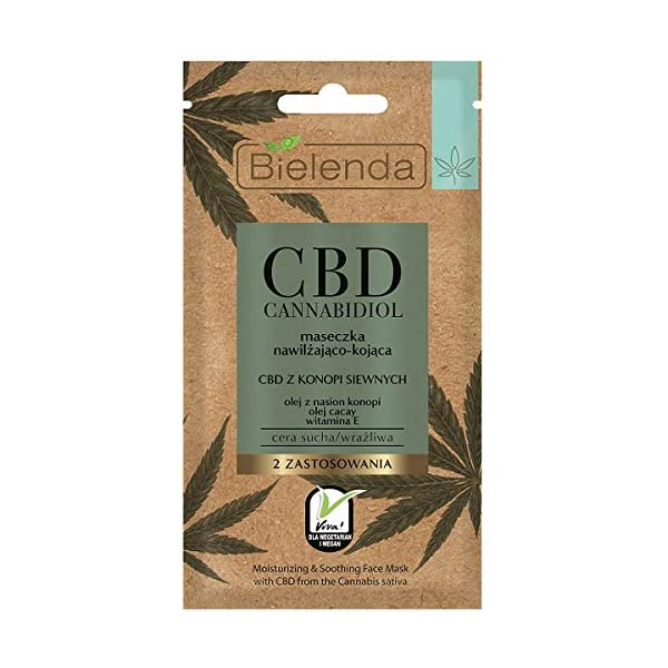 Bielenda CBD Cannabidiol Moisturising -Soothing Face Mask Dry & Sensitive Skin 8g