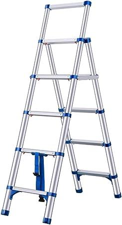 De extensión telescópica Escalera multiusos de aluminio plegable portátil Paso General Perfil extensible con Conveniente Mango plegable Escalera Multiuso for el hogar, la oficina, el Mercado: Amazon.es: Hogar