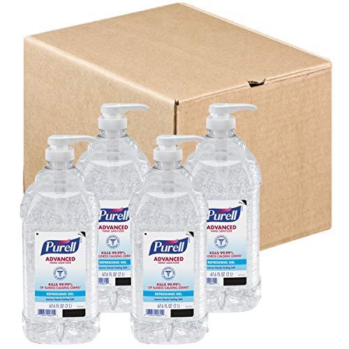 Advanced Hand Sanitizer Refreshing Gel, Clean Scent, 2 L Pump Bottle, 4/Carton